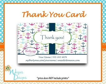 Thirty-One First Mate Thank You Card, Direct Sales Marketing, Independant Consultant, Directs Sales Business Card