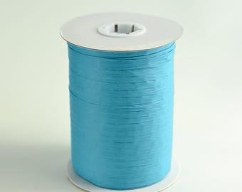 Aqua Raffia, Aqua Ribbon, Paper Ribbon, Gift Ribbon, Blue Raffia Ribbon, Party Favor Ribbon, Craft Supply, Gift Packaging, 100 Yards Spool