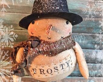 Primitive Snowman Ornie PATTERN Mr Frosty