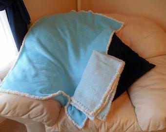 Micro Plush Bright Blue Baby Blanket