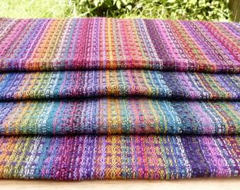 Handwoven Tea Towel Dishtowel - Rainbow Fun