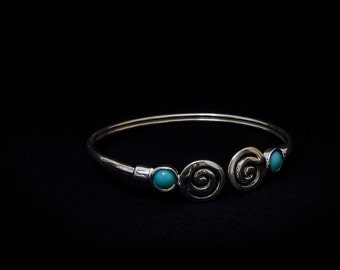 Greek meander bracelet silver