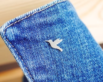 Sterling Silver Hummingbird Pin - Brooch - Badge