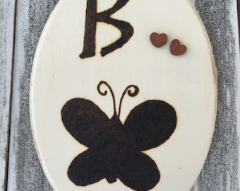 Butterfly, butterfly art, pyrography, wood burned butterfly, butterfly picture, butterfly love, butterfly wall hanging, b is for butterfly