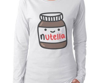 Nutella Women Long Sleeves tee T-shirt