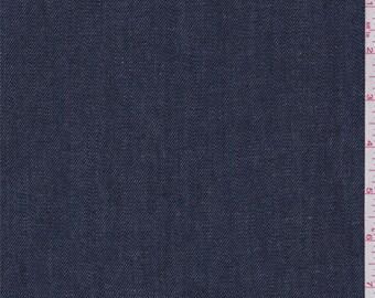 Deep Blue Stretch Denim, Fabric By The Yard