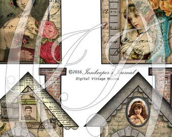 Junk Journal Vintage House Tags for Journals, Planners,  Gift Tags, Travelers Notebooks and Scrapbooking Tags