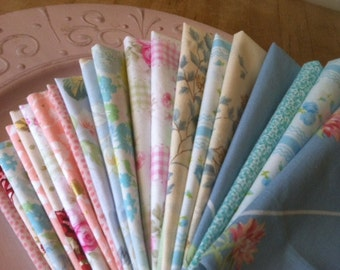 Shabby Chic Cloth Cocktail Napkins, 10 inch, Set of 8, by CHOW with ME