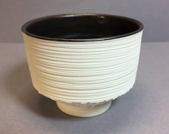 Handmade porcelain chawan (tea bowl)