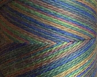 No.53 Spruce, Hand Dyed Silk Machine Thread, Individual Spool 120m, Machine Embroidery, Machine Quilting