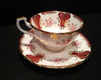 "Vintage Royal Kendal ""Lady Elizabeth"" cup and saucer 1992, pure elegance, Mother's day gift"