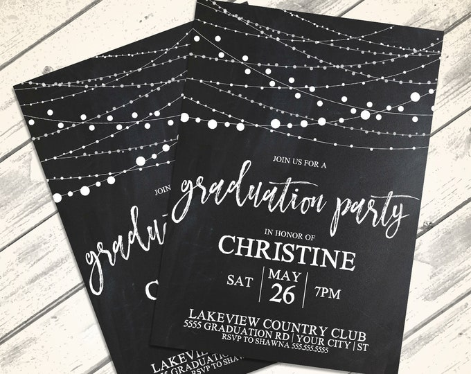 Graduation Party Invitation - Graduation Celebration,Class of 2018,University,High School | Editable Text Instant Download PDF Printable Kit