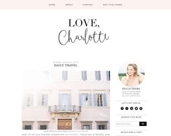 Blogger Template - Premade Blogger Template - Responsive Blogger - Blogger Theme - Fashion Blog Design - Blogger Templates - Feminine Blog