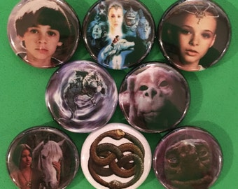 """8 Brand New 1"""" """"Neverending Story"""" Buttons Set"""