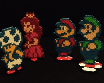 Super Mario 2 Stand Up Perler Characters