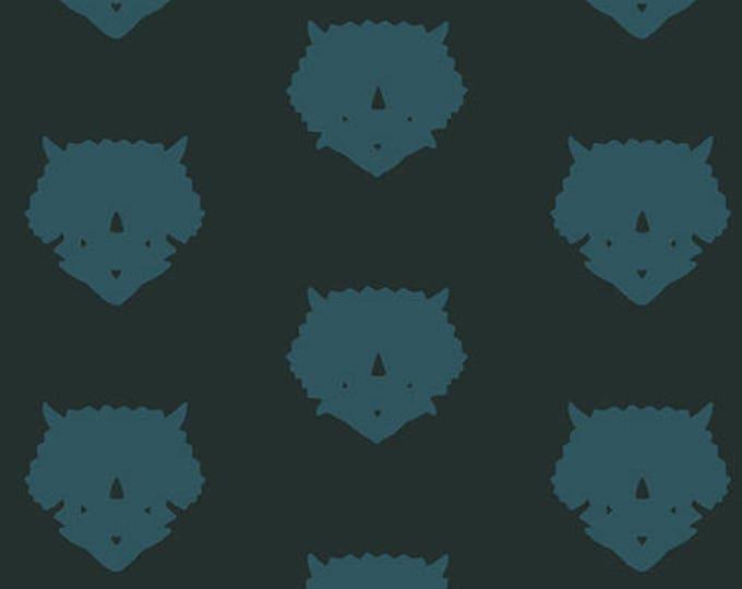 Esoterra by Art Gallery Fabrics - Triceratops-Petrolium - Cotton Woven Fabric