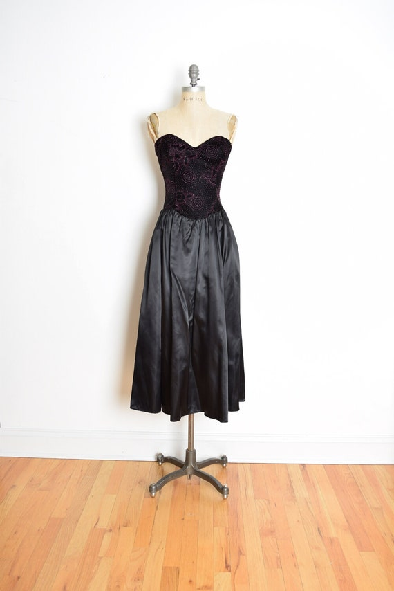 Vintage 80s Dress 80s Prom Dress 80s Party Dress Black