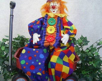 Happy the Clown - Cloth Doll E-Pattern Happy Clown Epattern