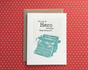 Hero Letterpress Card