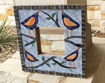 Birdies Mosaic Mirror
