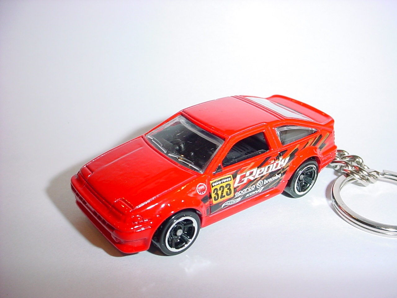 3d Toyota Ae 86 Corolla Custom Keychain By Brian Thornton Hotwheels Red Zoom