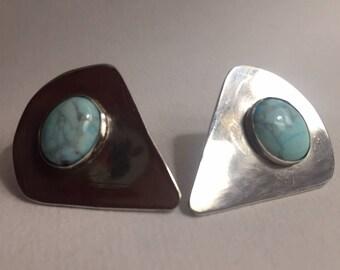 BISBEE Sterling Silver and Howlite Earrings