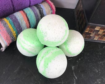 Spring Fling - Cucumber Melon Scented Handmade Bath Bomb - Bath Fizz - Bath Soak - Bath Bubbles - Fresh Scent - Summer Scent