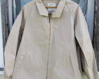 60s London Fog Preppy Wind Breaker Jacket, Men's M-L // Vintage Casual Jacket