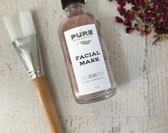 Rose Mineral Purifying Mask : bentonite clay | kaolin clay | rose | acne solution | natural skin care | organic | vegan