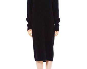 1990's Vintage Krizia Knit Black Dress