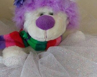 "Too Big TuTuu Too Cold Lil Bear. Delightful Magical Ballerina Bear Med. 12"""