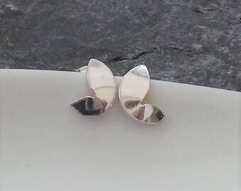 Butterfly Silver Stud Earrings - Handmade Sterling Silver Ear Stud Earrings - Silver Jewellery Etsy UK