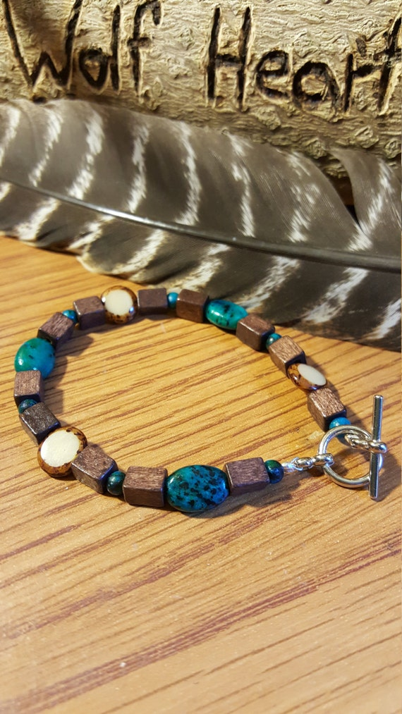 Handcrafted Beaded Native American Style Bracelet Outdoors Mens Womens Jewelry Hand Made