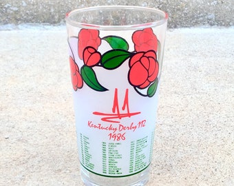 Vintage 1986 Kentucky Derby Glass
