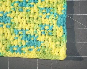 handmade cotton crochet washcloth dishcloth  --1134
