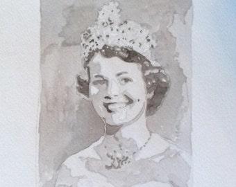 8x10 Custom Watercolor Portrait