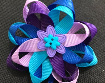 Blue and Purple Hair bow