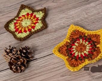 Easy Crochet Star Pattern, Tutorial Christmas Stars Pattern, Coaster Crochet Pattern, DIY Christmas Ornament, Instant Download /5011/