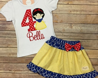 Snowwhite Applique Tee / Set