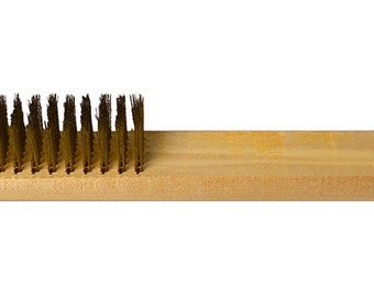 """8"""" Soft Brass Bristle Brush Jewelry Tool for Cleaning Shining Texturing and Polishing - BRUS-0001"""