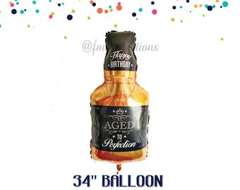 WHISKEY Balloon | Man 40th Birthday Party | Beer and Whiskey Birthday Party Decor | Male Birthday | Aged to Perfection | Jack Daniels theme