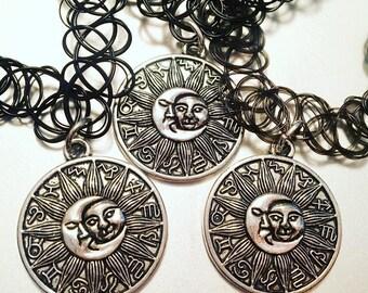 Sun and Moon Zodiac Choker