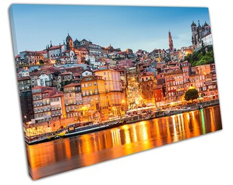 city of Porto on the Douro River in Portugal Cityscape Ready to Hang X1626