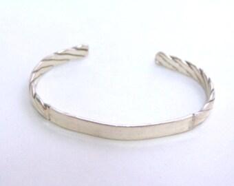 Estate Sterling Silver Cuff Bracelet 15.5g E1475
