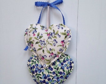 Blueberry Heart Hangings, Hearts Wall hanging, Fabric Hearts Wall Hanging, Wall Decorations