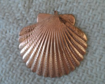 """Ex-large Copper coated steel scallop,2"""",1pc-KC530"""