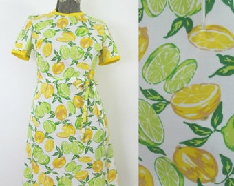 Lemons and Limes Mid Century Kitsch Dress