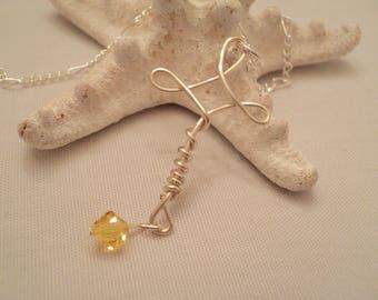 Wire Cross Charm, Cross Pendant, Wire Cross Necklace,  Wire Cross Pendant, Confirmation Cross, Confirmation Gift