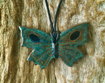 Butterfly Diffuser Necklace, Essential Oil Diffuser, Aromatherapy Necklace, Terracotta Diffuser, Essential Oil Accessory