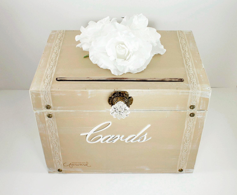 Vintage Card Box for Wedding Rustic Card Box for Wedding